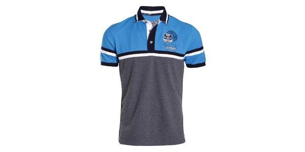 Pánské šedo-modré polo tričko Signore dei Mari