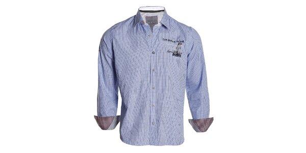 Pánská modře kostkovaná košile Signore dei Mari