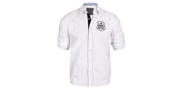 Pánská bílá košile s ohrnovacími rukávy Signore dei Mari