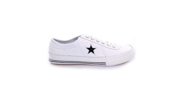 Bílé nízké boty s hvězdou Converse