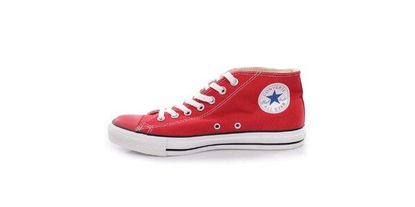 Červené kotníkové tenisky Converse