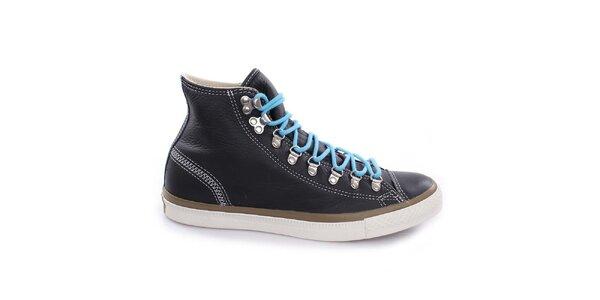 Černé šněrovací kotníkové boty Converse