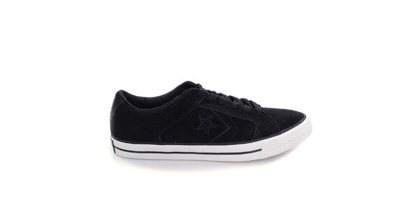 Černé nízké boty s hvězdou Converse