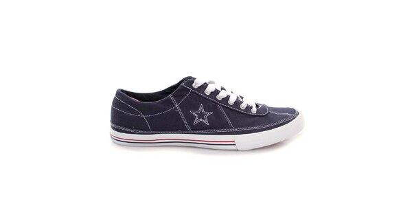 Tmavě modré nízké tenisky s bílou hvězdou Converse