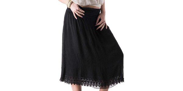 Dámská černá sukně s krajkou Keysha