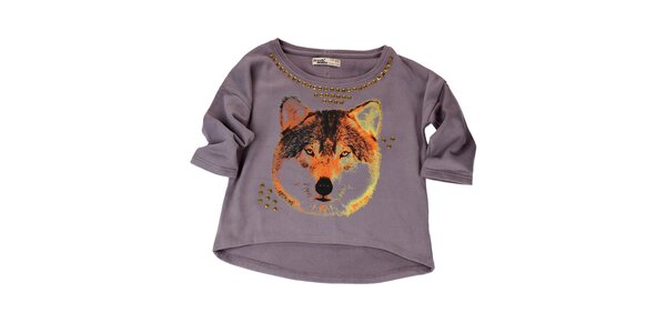 Dámský fialový svetr s flitry Fresh Made