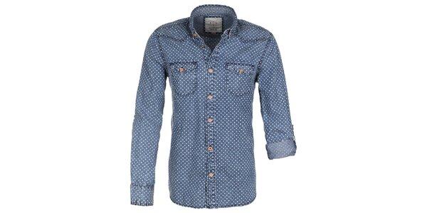 Pánská džínová puntíkatá košile Eight2Nine