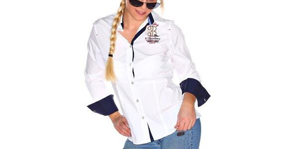 Dámská bílá košile s kontrastními prvky M. Conte
