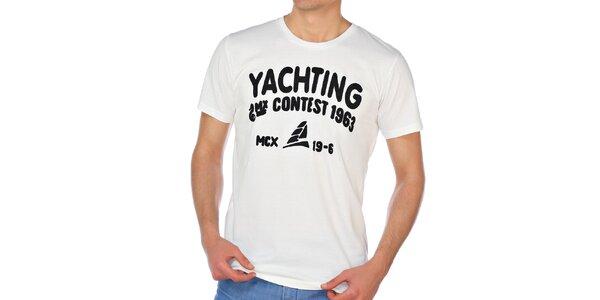 Pánské krémově bílé tričko M. Conte