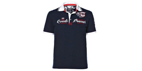 Pánské tmavě modré polo tričko M. Conte