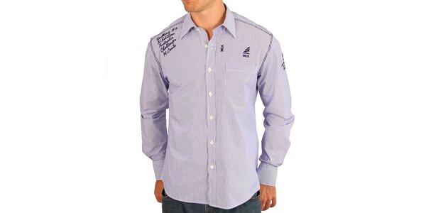 Pánská světle fialová košile M. Conte