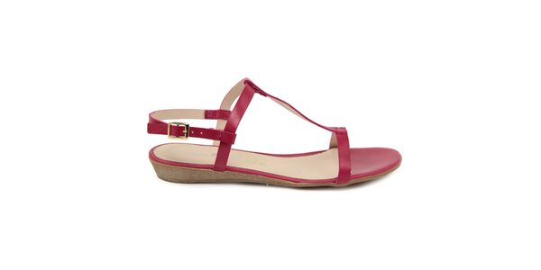 Dámské fuchsiové kožené sandálky Giorgio Picino