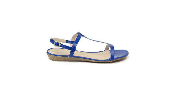 Dámské modré kožené sandálky Giorgio Picino