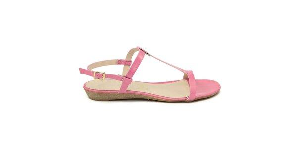 Dámské růžové kožené sandálky Giorgio Picino