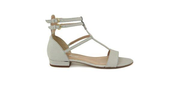 Dámské světle hnědé kožené gladiátorské sandálky Giorgio Picino