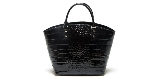 Dámská černá vzorovaná kabelka Mangotti