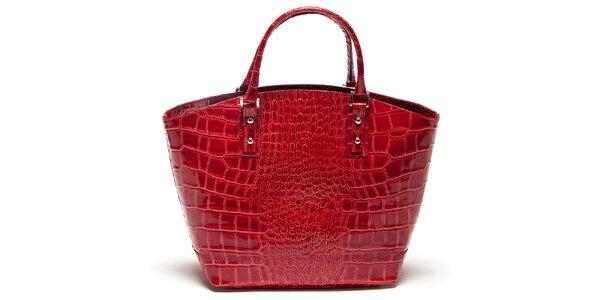Dámská červená vzorovaná kabelka Mangotti