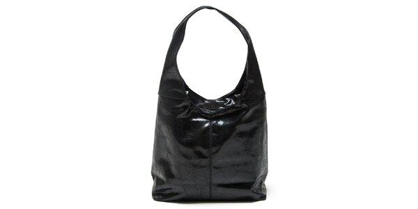Dámská černá kabelka s jedním uchem Mangotti