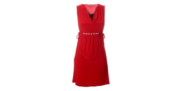 Dámské červené šaty Via Bellucci s korálky