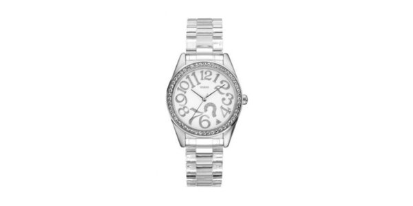 Ocelové hodinky s plastovým páskem