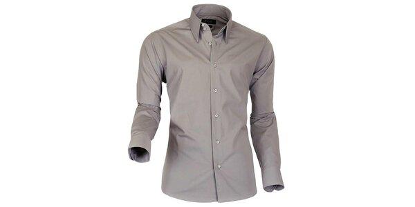 Pánská šedohnědá košile Pontto