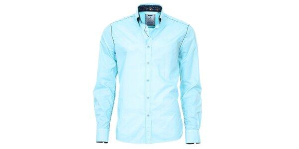 Pánská světle tyrkysová košile Pontto