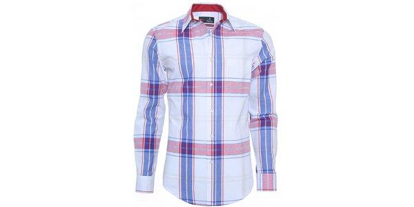 Pánská modro-červeně kostkovaná košile Pontto