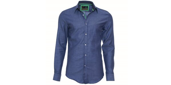 Pánská tmavě modrá košile Pontto