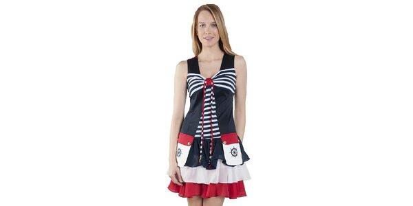 Dámské námořnické šaty s výraznými kapsami Via Bellucci