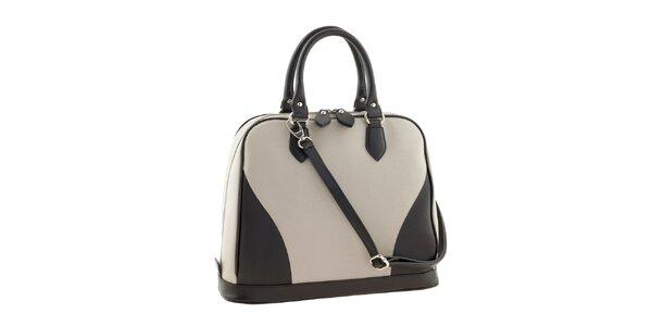 Dámská černo-béžová kožená kabelka Ore 10