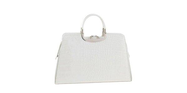 Dámská sněhobílá kožená kabelka Ore 10