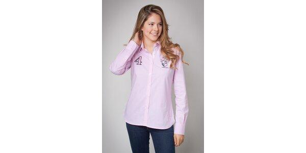 Dámská růžová košile Valecuatro s jemným proužkem