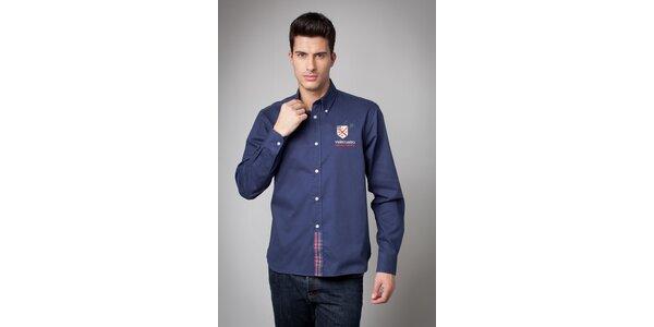 Pánská tmavě modrá košile Valecuatro