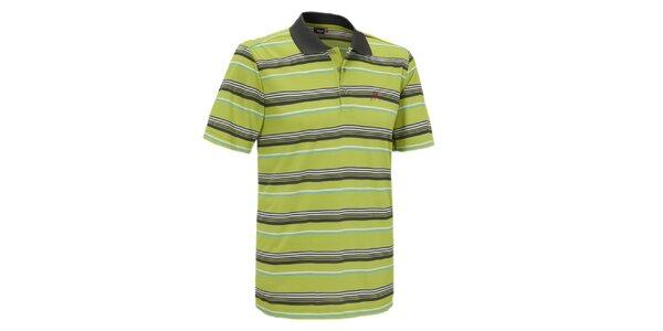 Pánské zelené pruhované polo tričko Maier