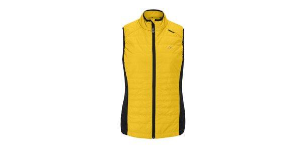 Dámská žlutá prošívaná vesta Maier