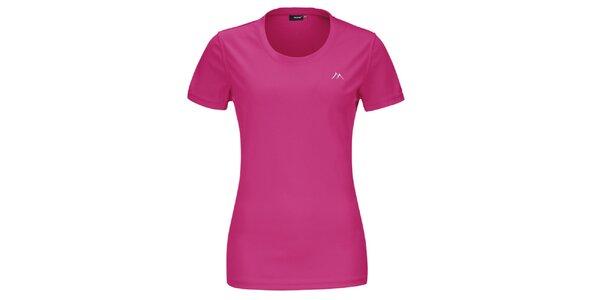 Dámské růžové funkční tričko s krátkým rukávem Maier