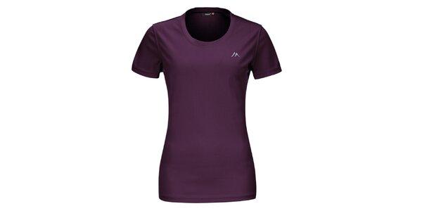 Dámské fialové funkční tričko s krátkým rukávem Maier