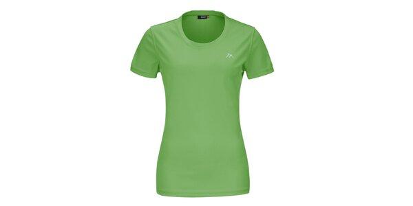 Dámské zelené funkční tričko s krátkým rukávem Maier