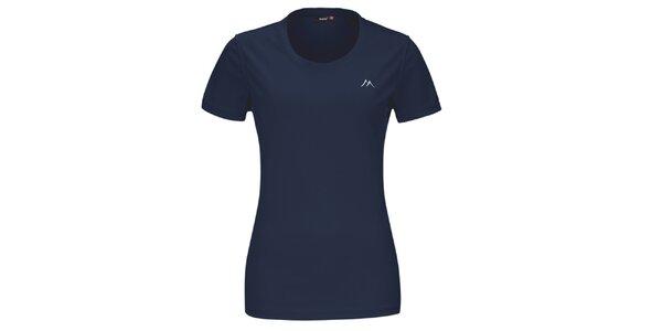 Dámské tmavě modré funkční tričko s krátkým rukávem Maier