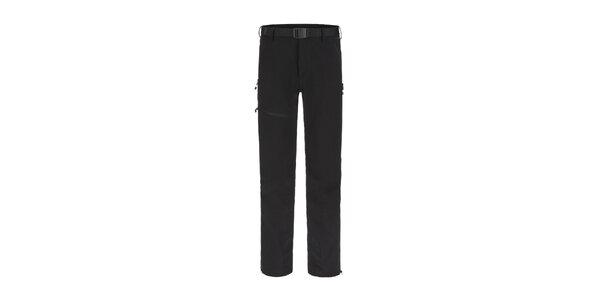 Pánské černé trekové funkční kalhoty Maier
