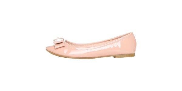 93ce5c1545 Dámské lakované světle růžové balerínky s mašlí Ana Lublin