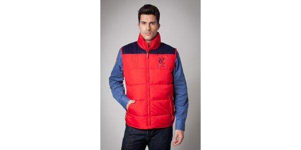 Pánská červená prošívaná vesta Valecuatro