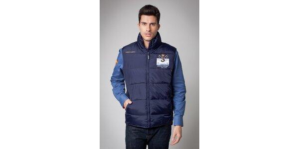 Pánská tmavě modrá prošívaná vesta Valecuatro