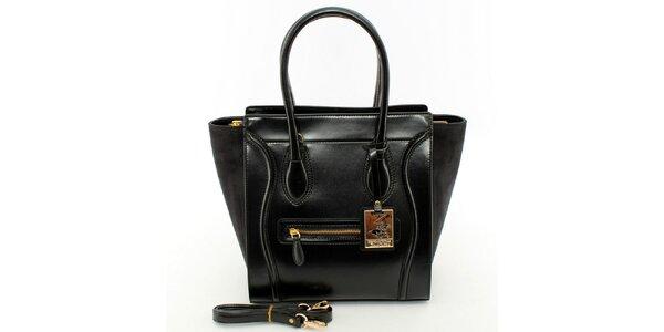 Dámská černá kabelka se zlatými detaily Beverly Hills Polo Club