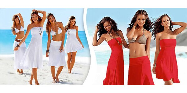 Letní šaty 3 v 1 v pestrých barvách