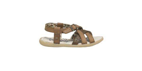 Dámské hnědé páskové sandálky Buggy