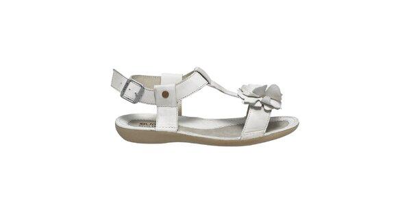 Dámské bílé sandálky s kytičkou Buggy