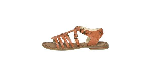 Dámské oranžové páskové sandálky Buggy
