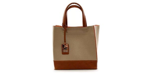 Dámská písková kabelka s visačkou Beverly Hills Polo Club