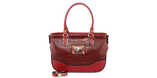Dámská červená kabelka s odnímatelným popruhem Beverly Hills Polo Club